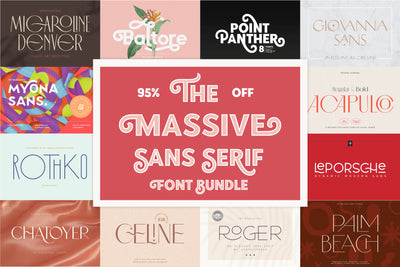 The Massive Sans Serif Font Bundle - Pixel Surplus