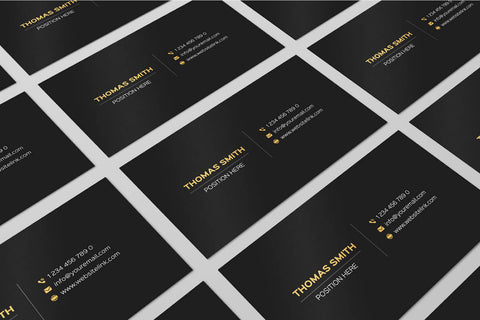 Free Minimalistic Black & Gold Business Card Template
