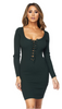 Hunter Green  Fitted Dress