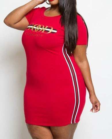 Good Vibes Only T-shirt Dress (Plus Size)