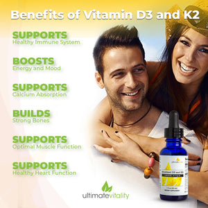 Micellized Liquid Vitamin D3 & K2  - 30 Servings