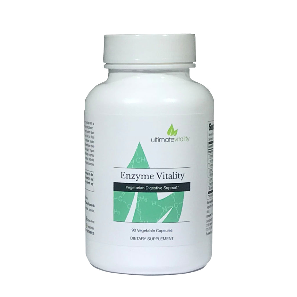 Enzyme Vitality - Provides Comprehensive Digestive Enzymes and Pancreatic Enzymes Helps Relieves Occasional Gas and Bloating Gluten Free - 90 Vegetarian Capsules