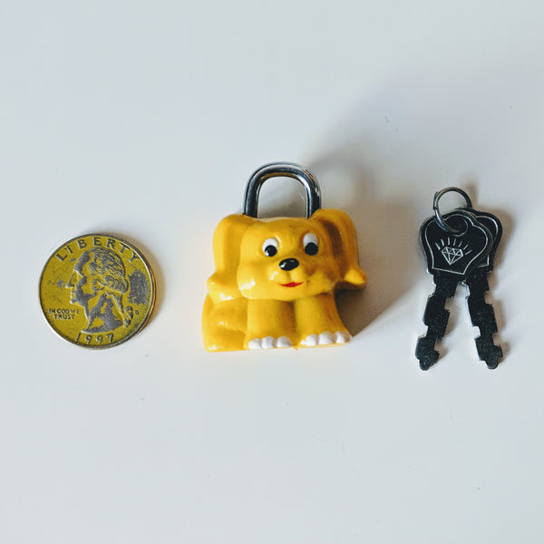Yellow Puppy Dog Lock - Geared Up Pup