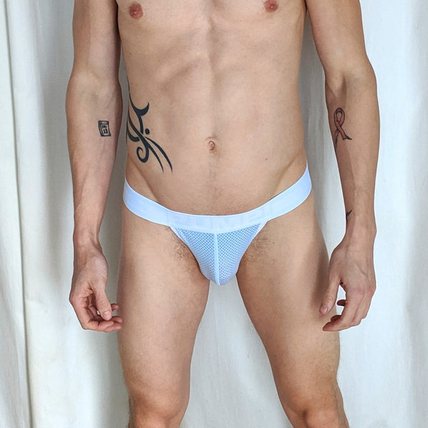 Pump Jock - Light Blue Pouch, White and Light Blue Band - Geared Up Pup
