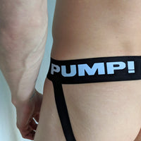 Pump Jock - Black with White Lettering - Geared Up Pup
