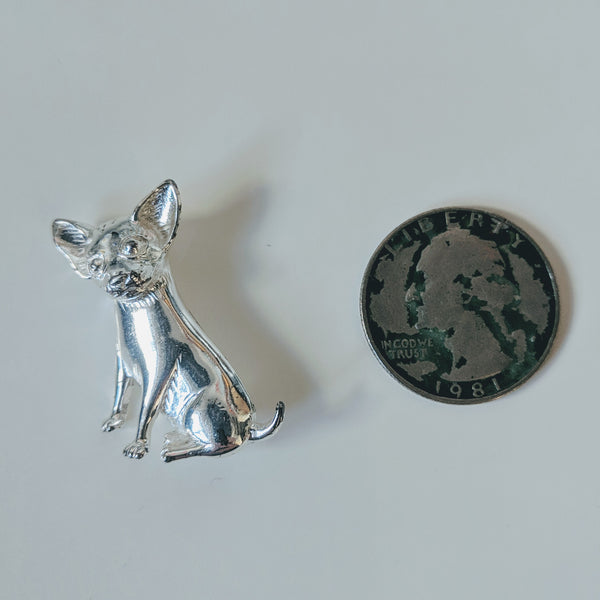 Chihuahua Puppy Pin (Sterling) - Geared Up Pup