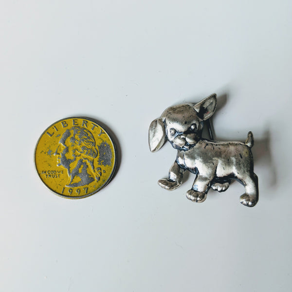 Mischievous Puppy Pin (Sterling) - Geared Up Pup
