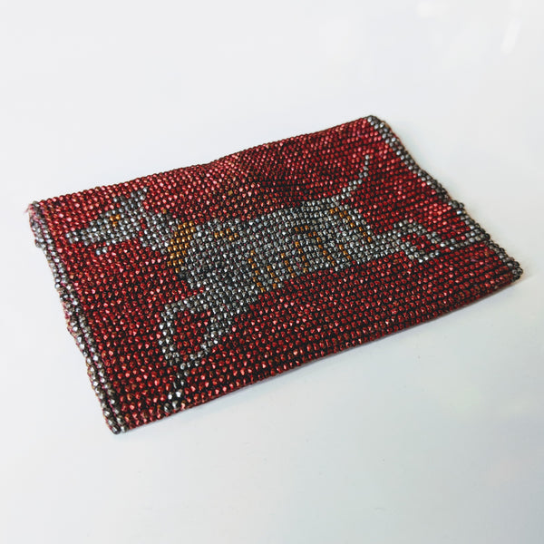 Antique Beaded Leaping Puppy Purse Pouch - Geared Up Pup
