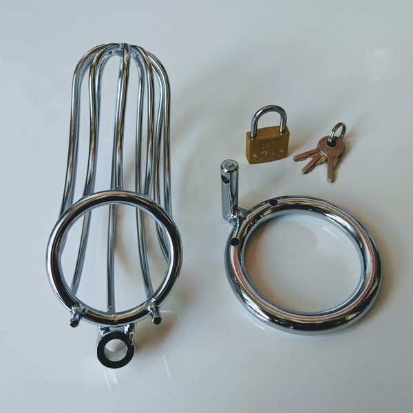 Chrome Wire Chastity Cage - Geared Up Pup