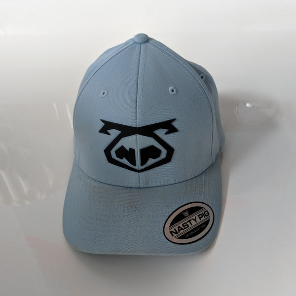 Nasty Pig Snout Cap-Black on Light Blue - Geared Up Pup