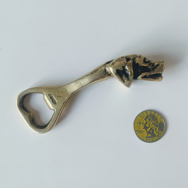 Brass Dog Head Bottle Opener