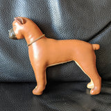 Tomi Mid Century Stuffed Leather Boxer Dog Toy - Geared Up Pup