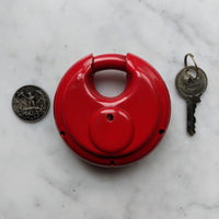 Red Round Disc Lock - Geared Up Pup