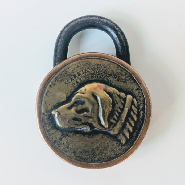 Antique Dog Head Lock - Geared Up Pup