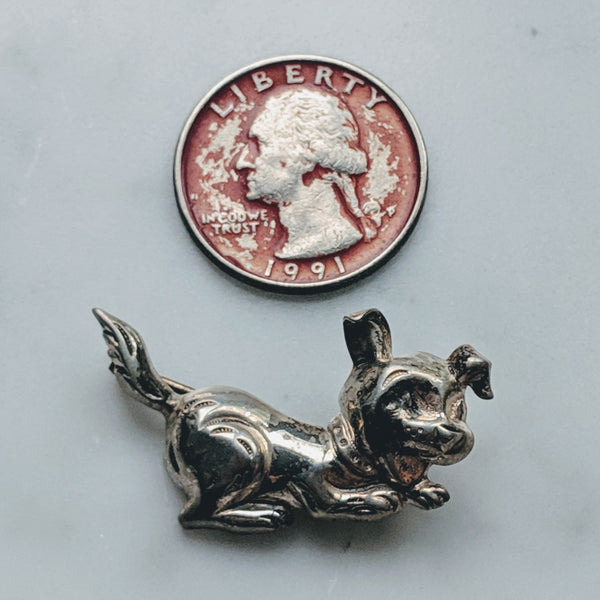 Playful Puppy Pin (Sterling) - Geared Up Pup