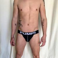 Pump Jock - Black Mesh with White Lettering - Geared Up Pup