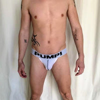 Pump Jock - White Mesh with Black Lettering - Geared Up Pup