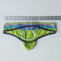 Andrew Christian Briefs-Lime Green Purple-used - Geared Up Pup
