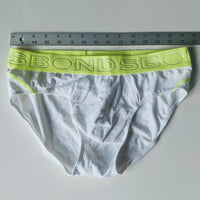 Bonds Briefs-white and fluorescent yellow Large Used - Geared Up Pup
