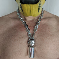 Double Scorpio White Gold Chain Necklace - Geared Up Pup
