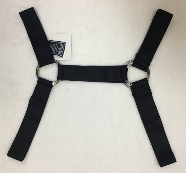 4 Ring Elastic Harness, Black, Machine Washable