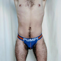 Pump Jock - Orange and Royal Blue (Royal Blue Pouch) - Geared Up Pup