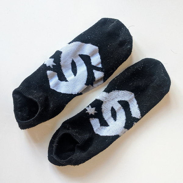Black DC Shoes Socks - Geared Up Pup