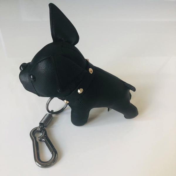 Leather Bulldog Key Chain - Geared Up Pup