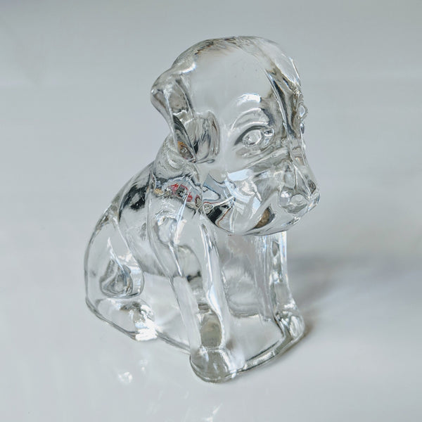 Glass Puppy Dog-Clear - Geared Up Pup