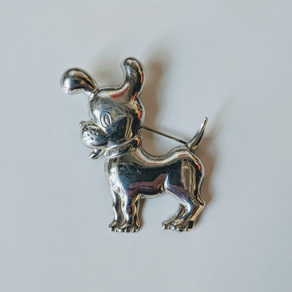 Cute Puppy Pin (Sterling) - Geared Up Pup