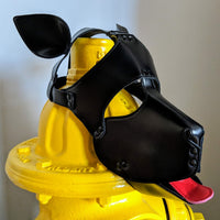 BLACK Puppy Dog Mask - Geared Up Pup