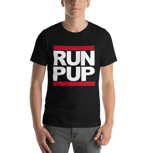 T-Shirt-RUN PUP in black - Geared Up Pup