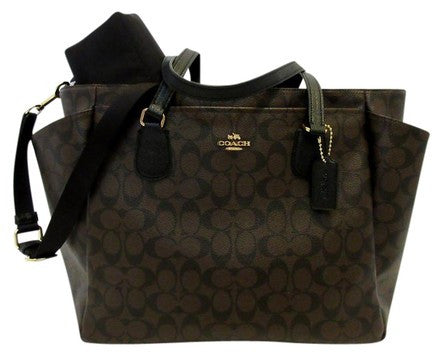 Coach Baby Bag W/Changing Pad in Crossgrain Leather