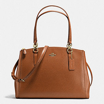 Christy Carryall Handbag In Crossgrain Leather