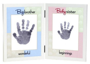 Big Brother and Baby Sister Hand Print Frame