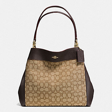 COACH LEXY SHOULDER BAG IN OUTLINE SIGNATURE