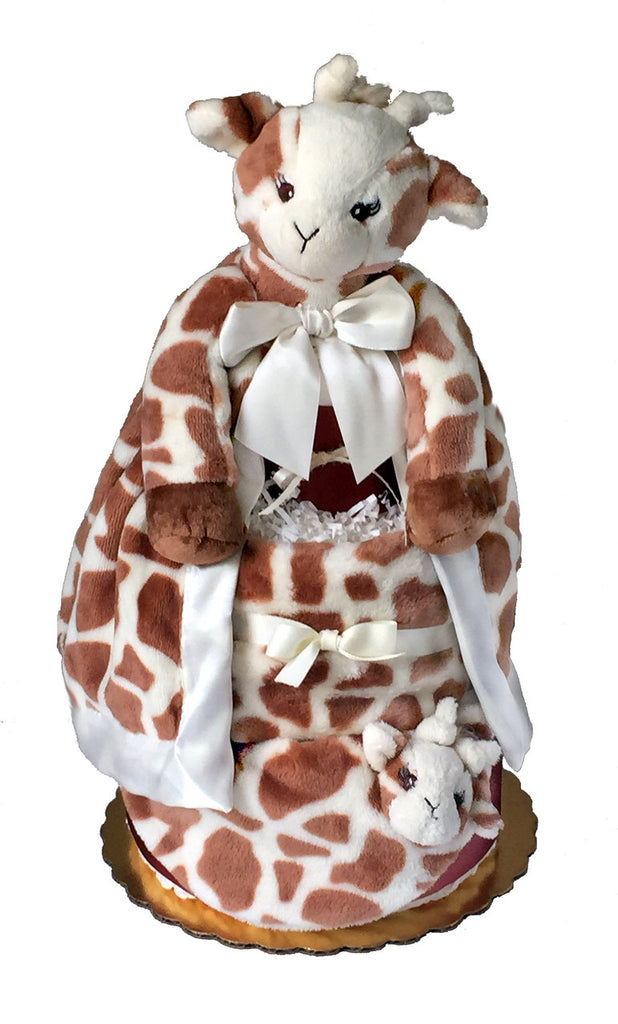 Bearington Patches Giraffe Diaper Cake
