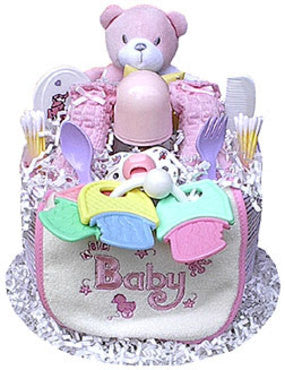 Tier Girl's Diaper Cake