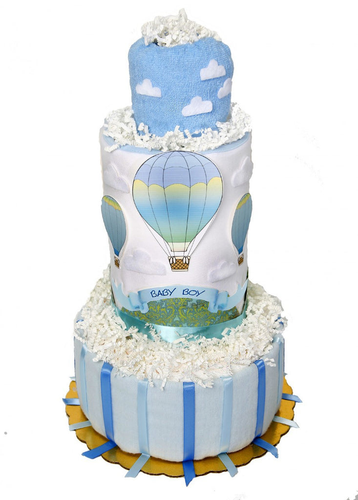 Up Up & Away Hot Air Balloon Diaper Cake