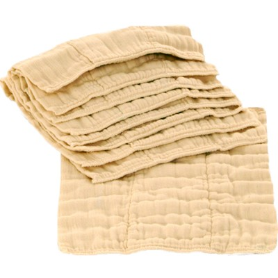 Unbleached Indian Cotton Prefolds - Dozen