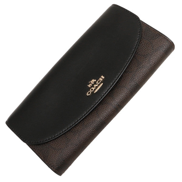 SLIM ENVELOPE WALLET IN CROSSGRAIN LEATHER   SIGNATURE COATED CANVAS ... b02caec271a6a