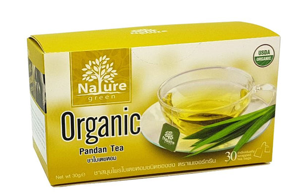 Nature Green USDA-certified Organic Pandan Tea Herbal 30 Sachets 30 g