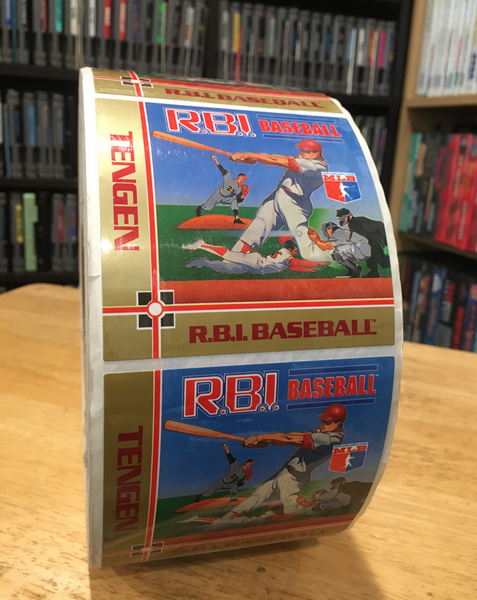 Original RBI Baseball NES Cart Label