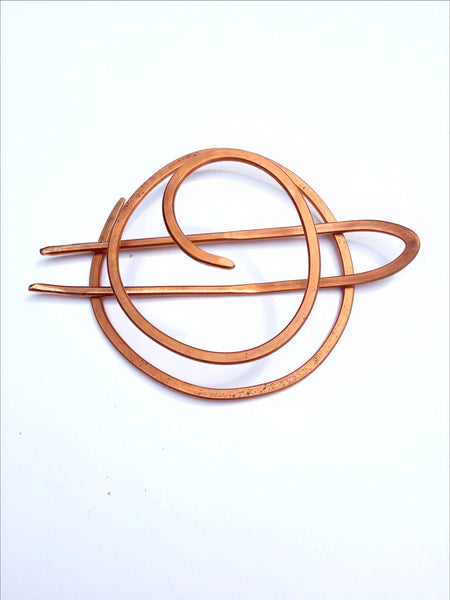 Copper Bun Holder with Fork
