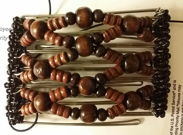 7 tooth wood beads