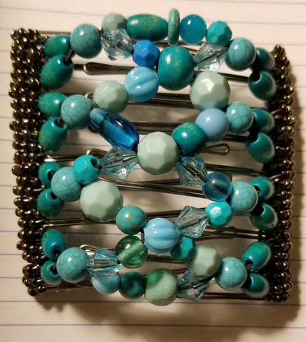 9 tooth - Fabulous turquoise and blues mix!