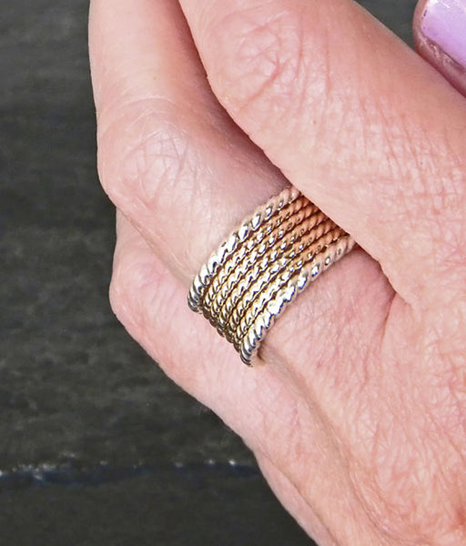 Thin Stacking Gold Ring Set