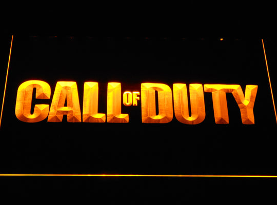 Call Of Duty LED Sign - Yellow - TheLedHeroes