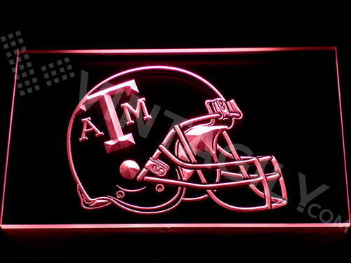 FREE Texas A&M Helmet LED Sign - Red - TheLedHeroes