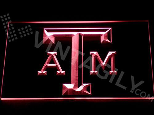 Texas A&M LED Neon Sign USB - Red - TheLedHeroes